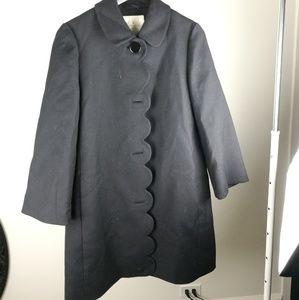 Kate Soatde blak coat with cute detail